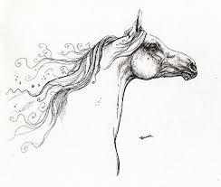 wind in the mane 1 drawing by angel ciesniarska