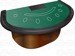 Black Jack Table by Professional Blackjack Table With Armrest Cartoon Clipart Vector