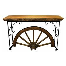 groovystuff winchester wagon wheel console table hayneedle