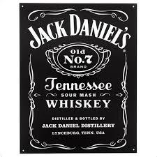 jack daniels whiskey label tin sign bar signs retroplanet com