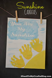 handprint sunshine canvas kid craft canvas crafts sunshine