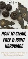 How To Strip And Repaint by How To Clean And Paint Hardware With Just The Woods Tossed