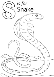 letter snake coloring free printable coloring pages