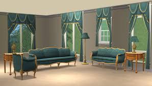 Blue Living Room Sets by Mod The Sims Blue Damask Livingroom Sets