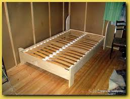 How To Build A Twin Platform Bed Frame by Twin Bed Frame Diy Twin Bed Frame Plans From Anna White Stained