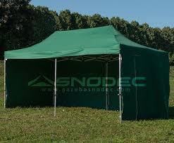 gazebo in alluminio pieghevole gazebo pieghevole 3x6 verde alluminio 40mm con teli laterali