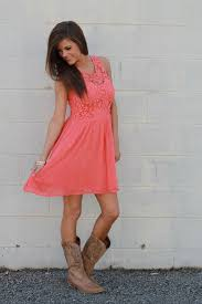 country chic dress coral the mint julep boutique