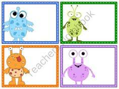 printable monster name tags free printable monster name tags the template can also be used for