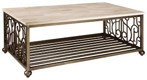 Lower Coffee Table by Contemporary Rectangular Cocktail Table With Lower Shelf By