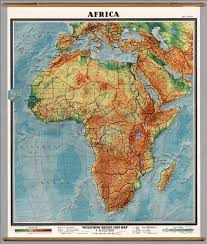 Political Map Africa by Africa Physical Political David Rumsey Historical Map Collection