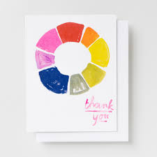 thank you color wheel risograph card u2013 yellow owl workshop