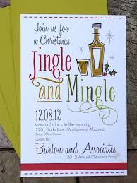 Cocktail Party Invitation Card Christmas Party Invitations By Paige Burton Designs Via Etsy