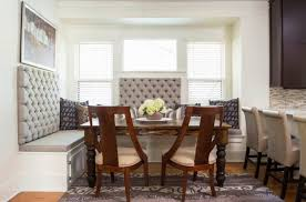 furniture banquette with storage and tufted back plus rustic wood