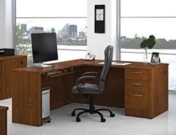 Wooden Home Office Desk Amazon Com Bestar Embassy L Shape Wood Home Office Computer Desk