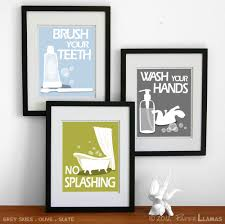 bathroom art ideas for walls bathroom art prints wash your hands brush your teeth children s