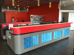 High End Reception Desks High End Reception Desk Edge Fitness Las Vegas Nv