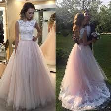 pink lace wedding dress discount 2017 blush pink lace soft lace wedding dresses boho