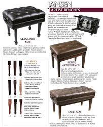 piano benches william r monroe piano services