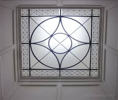Decorative Glass Panels For Walls Leaded Glass Flat Lens Positioned Below A Skylight Perfect For