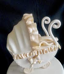 pink little cake ivory color baby shower cake