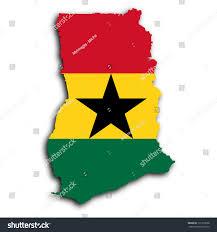 Map Of Ghana Map Ghana Filled National Flag Stock Illustration 131935658