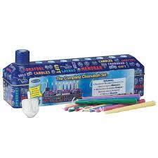rite lite chanukah candles rite lite 46pc complete hanukkah tin kit menorah candles and dreidel