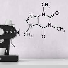 caffeine molecule wall sticker u2013 zygomax