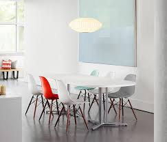 eames molded plastic side chair restaurant chairs from herman