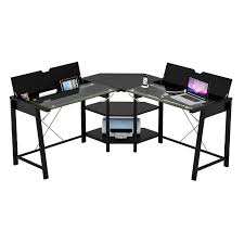 Art Van Desks by Z Line Designs Vance Corner Desk With Hidden Storage Black With