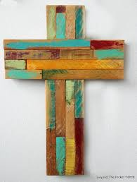 wood crosses beyond the picket fence rustic reclaimed wood crosses
