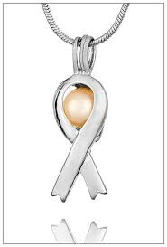 pearl ribbon silver plated cancer ribbon pearl cage pearl cages freshwater