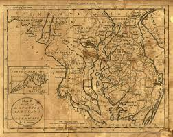 Map Of Maryland Map Of The States Of Maryland And Delaware