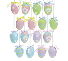 easter egg ornaments 8 set of 48 decorative easter egg ornaments colors and