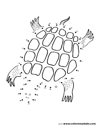dot coloring pages turtle dot to dot coloring page create a printout or activity