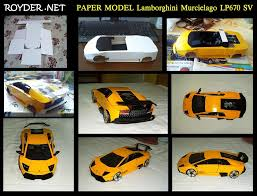 lamborghini model template simple lamborghini gallardo paper car