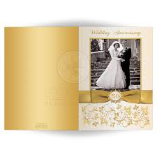 Gold Invitation Card 50th Wedding Anniversary Invitation Double Photo Ivory Gold
