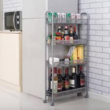 kitchen storage cupboard on wheels 4 tier gap kitchen slim slide out storage tower rack with