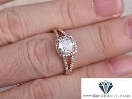 cushion cut split shank engagement rings 7mm cushion cut moissanite engagement ring split shank