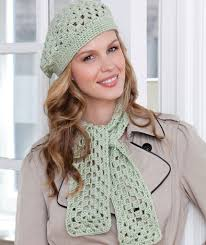 Redheart Pattern Lw2741 | first beret scarf red heart