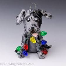 great dane blue ornament lights by themagicsleigh