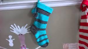 crochet christmas stocking youtube
