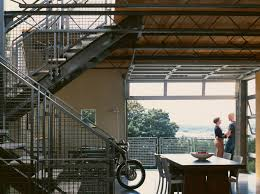 modern stair railing industrial dining room to obviously place