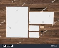 Business Letterhead Stationery Simple Design Templates Branding Mockup Letterhead Envelope Blank Business Stock Photo