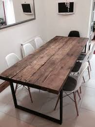12 Seater Dining Tables Reclaimed Industrial Chic 10 12 Seater Solid Wood And Metal Dining