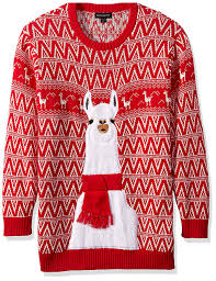 blizzard bay men u0027s festive llama ugly christmas sweater red white