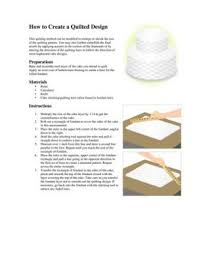 quilted wedding cake design instructions lovetoknow