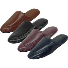 mens leather bedroom slippers s319m a wholesale men s vinyl house slippers