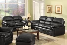 elegant living room ideas with black sofa in home interior design