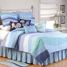 Seashell Queen Comforter Set Beach Bedding Over 300 Comforters U0026 Quilts In Beachy Themes