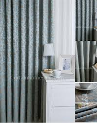 on sale and room darkening curtain baby blue jacquard pattern curtains